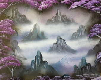 Spray Paint Art Mountains