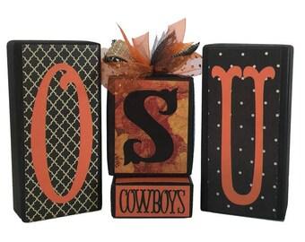 Oklahoma State Cowboys  -- OSU -- Cowboys -- Block Set