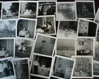 Large Lot of Antique Photographs. Collection of Black and White Photographs. Large Lot of Portrait Photographs. Paper Ephemera.
