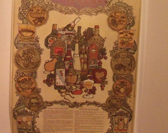 Wine Poster from 1960's