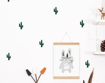 Wall decals / wall stickers 28 cacti dark green