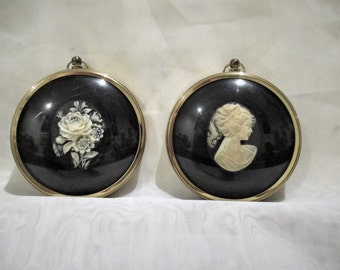 Cameo Miniatures - Peter Bates - Pony Tailed Girl and Roses
