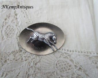 Vintage zebra brooch