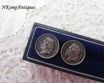 Antique Napoleon cufflinks