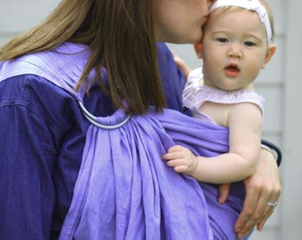 Bibetts Pure Linen Ring Sling Baby Carrier  'Wisteria' - CPSIA compliant - Infant, Toddler and Baby Carrier