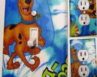 Scooby Doo light switch wall plate covers nursery, kid room bathroom ,bedroom decor