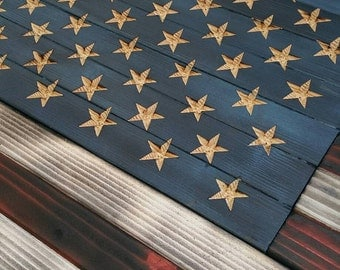 Wooden American Flag Wall Hanging wood american flag | etsy