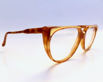 fetching 1980s gucci tortoiseshell framed glasses with gold brow bar and double g logo plate frame italy deadstock