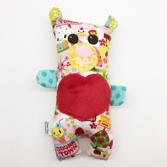 Handmade Bear Softie, Wuzzy Bear