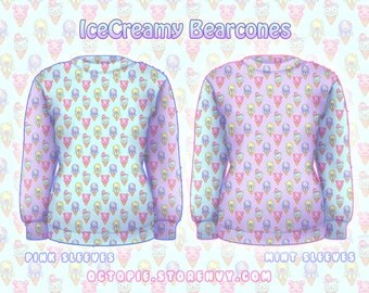 "Mix ""IceCreamy Bearcones"" Sweater"