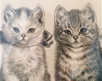 Vintage  Cat Print by Meta Pluckebaum