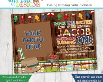 Gone Fishing Party Invitations Decorations Printable Party