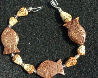 Fish bracelet wooden