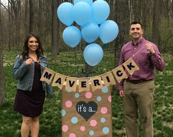Gender Reveal Sign / it's a... /Balloon Box