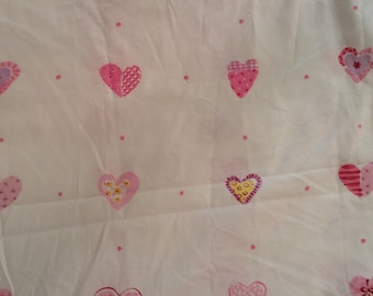Cotton, hearts, great for quilting, pjs, curtains