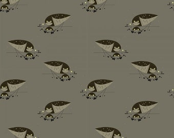 Burrowing Owl- Organic Cotton Fabric - Charley Harper Western Birds for Birch Fabrics