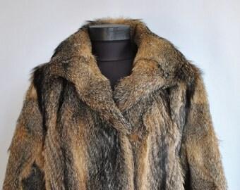 Vintage FOX FUR COAT , women's fur coat .....(227)