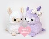 "PDF sewing pattern - Alpaca Llama stuffed animal - kawaii plush anime soft toy plushie DIY 12"" TeacupLion"