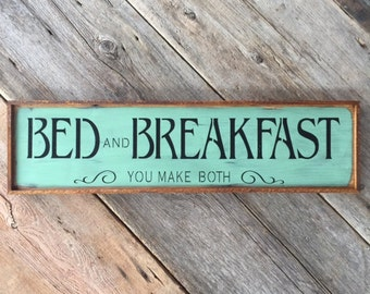 bed and breakfast sign kitchen decor funny wood signs rustic home decor