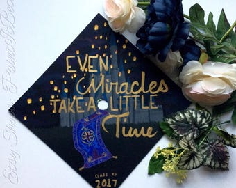Custom Disney Inspired Grad/Graduation Cap Painting