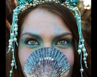 Sparkling Turquoise Mermaid Sea Crown