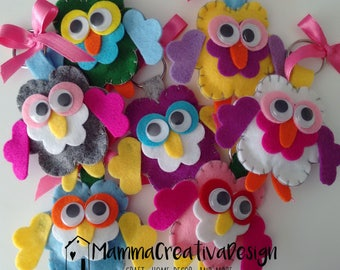 Owl Keychain Favors-Party Favors