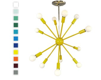 Color Sputnik Chandelier Lighting 24"