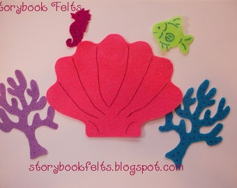 SHOP CLOSING SALE - Felt Under Water Play Set Without Storyboard