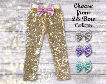 Baby Girl Gold Pants Baby Girl Leggings Gold Leggings Gold Sparkle Pants Gold Sequin Pants Girl Clothes Birthday Pants Sizes Newborn-6T