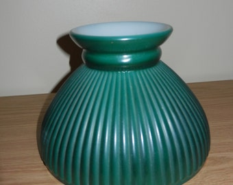 Green Glass Lamp Shade, Hurricane