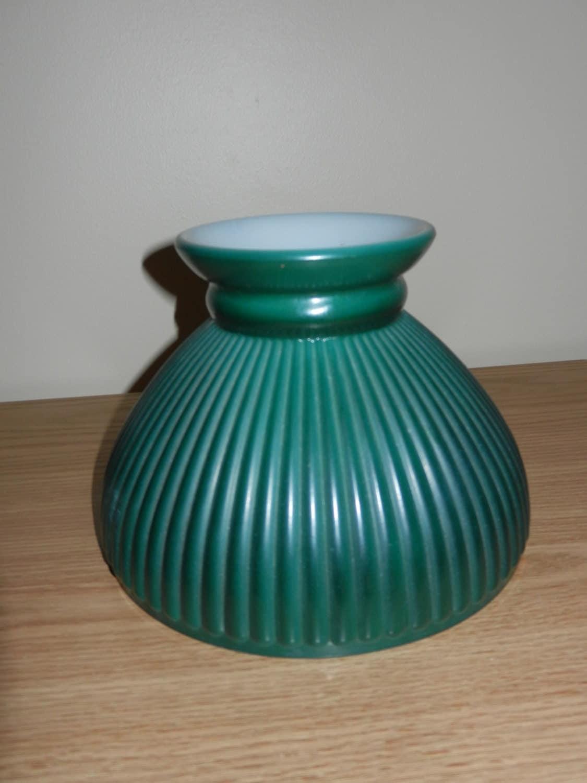 green glass lamp shade hurricane. Black Bedroom Furniture Sets. Home Design Ideas