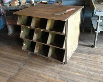 Vintage industrial kitchen island | Etsy