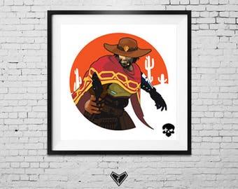 Overwatch - McCree - It's High Noon - Print