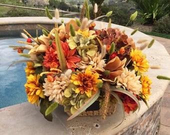 Rustic Floral Centerpiece, Floral Arrangement, Decor for the Home, XL Centerpiece, Rustic Centerpiece, Floral Arrangements, Tuscan Floral