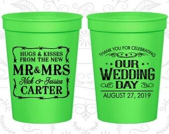 Neon Green Stadium Cups (C550) Neon Green Cups, Neon Green Plastic Cups, Neon Green Party Cups, Neon Green Wedding Cups