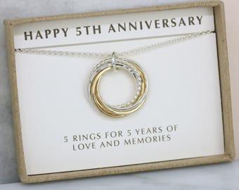 5 year anniversary gift jewelry