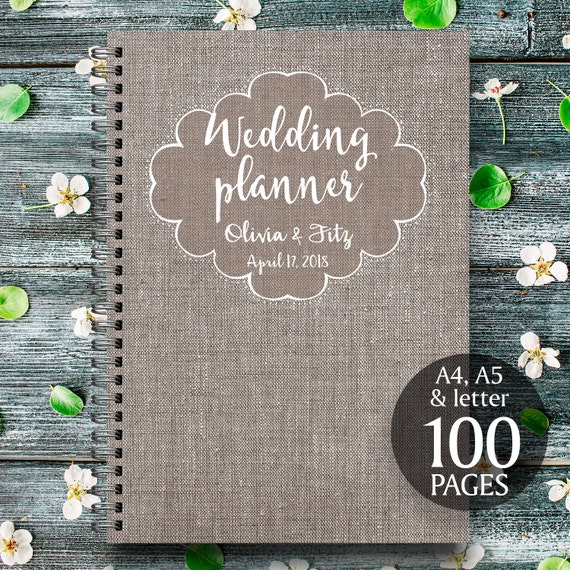 Linen wedding planner, Linen wedding kit, Linen wedding organizer, Linen wedding checklist, Printable wedding planner, PDF wedding planner