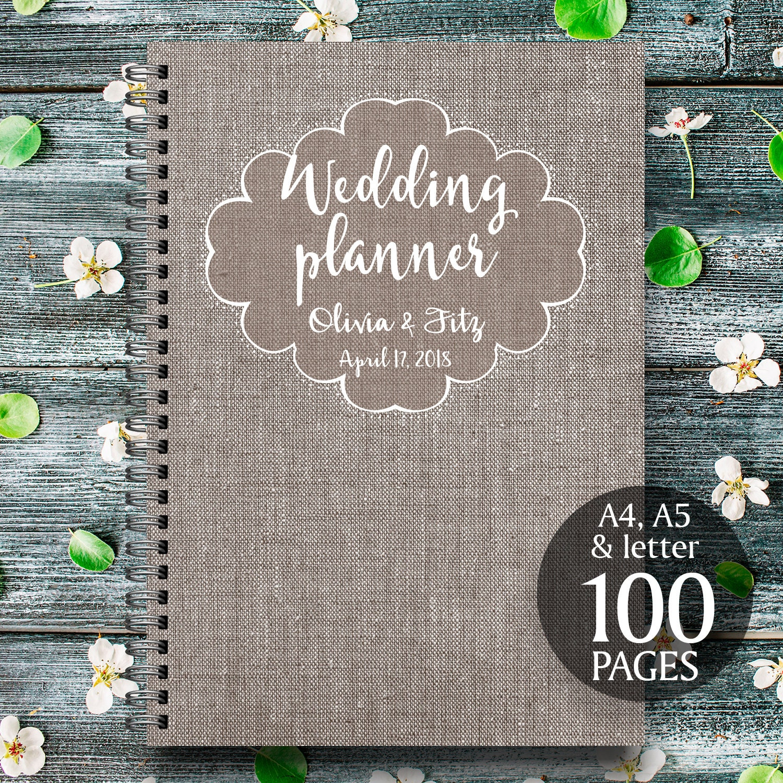 linen wedding planner linen wedding kit linen wedding organizer