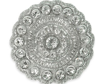 "1.75"" Round Crystal Rhinestone Applique"