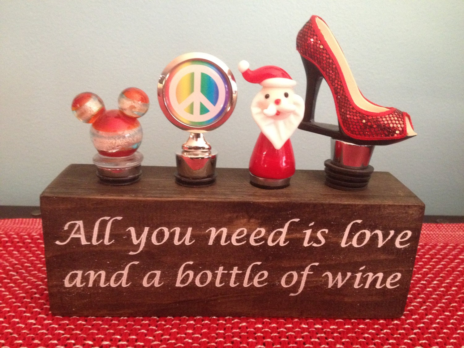 Hand Made Wooden Wine Stopper Holder Display Box