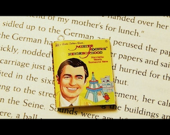Mr Rogers Neighborhood Little Golden Book Necklace, Brooche, or Keychain