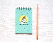 I am Satisfied Cat Spiral Notepad, Blank Notebook, Notepad for Bullet Journal