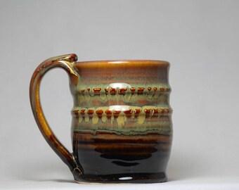 stoneware mug, 12oz pottery coffee cup, pottery mug