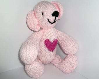 Knitted Critter - Harris Tweed Heart - 025