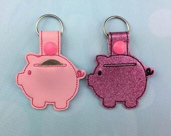 Aldi Quarter Keeper - Aldi Keychain - Piggy Bank Keychain - Piggy Quarter Keeper - Child's Piggy Quarter Keeper