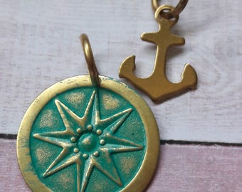 Nautical Star Anchor Set Pendants & Charms Jewelry Making Supplies