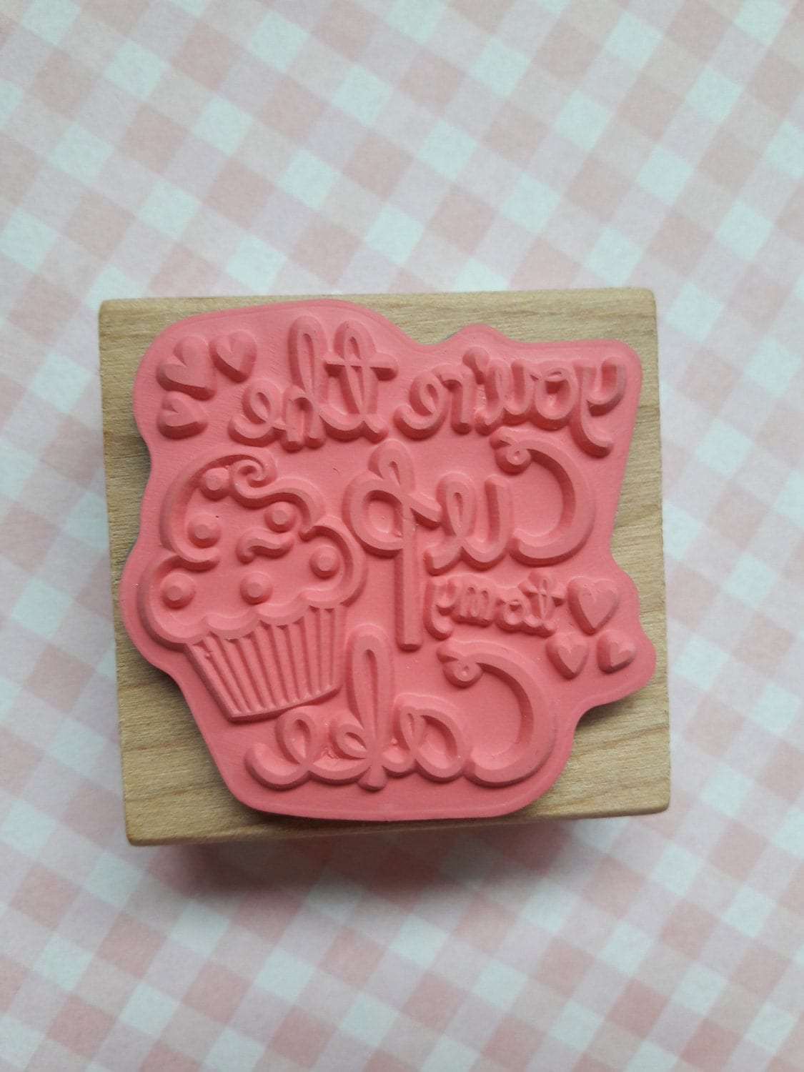 Rubber stamp craft supplies - You Re The Cup To My Cake Wood Mounted Rubber Stamp Craft Supplies