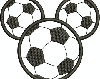 Character Inspired Soccer Mouse Head Applique, Embroidery Design Machine Embroidery Design 244