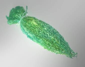 Aqua- Extra Long Teeswater Locks - Extreme Tailspinning - blythe waldorf reroot spinning felting doll hair curls green blue aqua