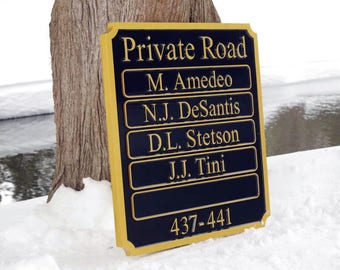 Multiple Last name Entrance sign  - Custom Made to Order